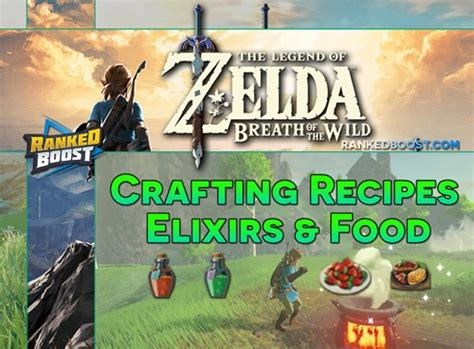 Zelda Breath of the Wild Crafting Recipes   Food Cooking