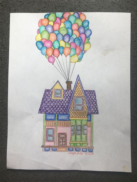 Sketch/drawing of house from up (With images)   Disney