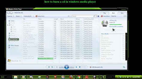 how to burn a cd to windows Media Player step by step