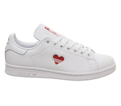 adidas Stan Smith Trainers White Red Heart - Sneaker damen