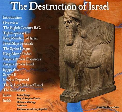 Map of Assyria - The Destruction of Israel (Bible History