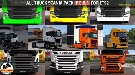 ALL TRUCK SCANIA PACK (P,G,R,S) ETS2 - ETS2 Mod