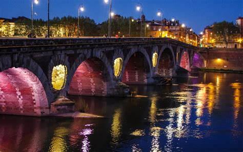 Pont Neuf, Toulouse Full HD Wallpaper and Background Image