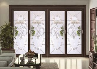 Custom Stained Patio Sliding Doors , 19-22 Mm Double