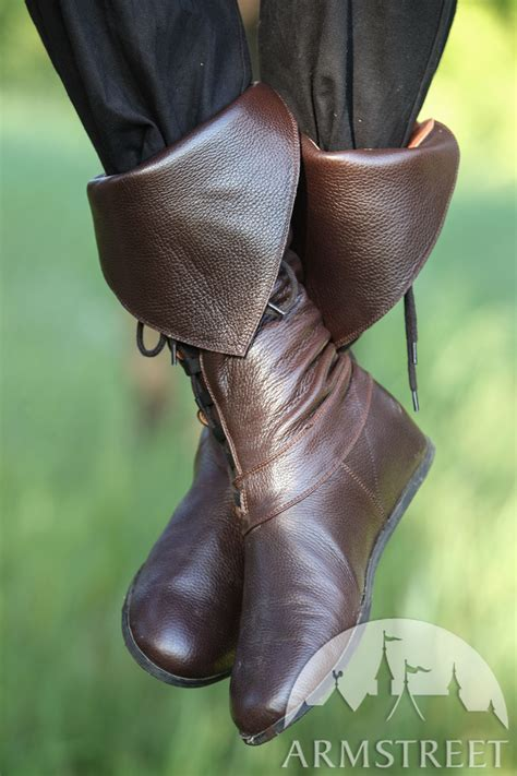 Medieval Fantasy Pirate Boots for sca and reenacment for