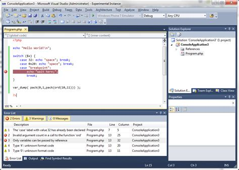 How to use PHP with Visual Studio - Stack Overflow