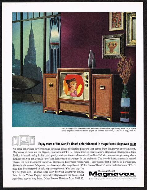 1961 Vintage Magnavox Color TV Stereo Theatre Sixties