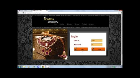 Online jewellery shopping website project using PHP (Part