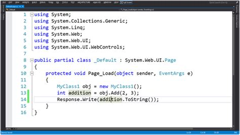 Call Visual Basic Function In C# Page