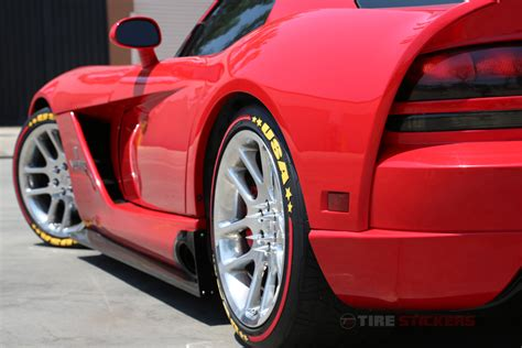 Tire Graphics – Formula 1 Style Stripes Only – Tire