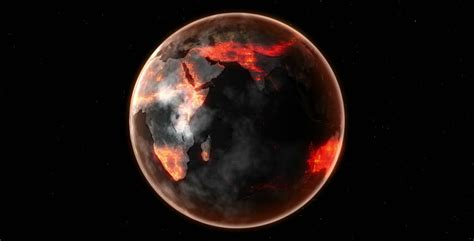 Earth Burn Death Planet Compose Stock Footage Video (100%