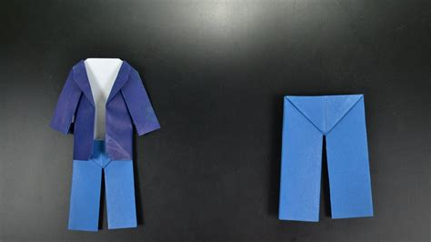 Origami: Pants - Instructions in English (BR) - YouTube