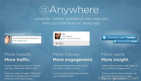 Integrate Twitter into your Website