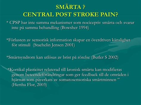 PPT - CONSTRAINT-INDUCED MOVEMENT THERAPY - ERFARENHETER