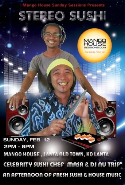 A Sunday Afternoon of Sushi and House Music on Koh Lanta