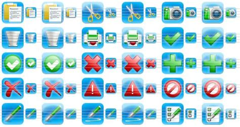 iPhone Style Toolbar Icons - Royalty-free iPhone-style icons
