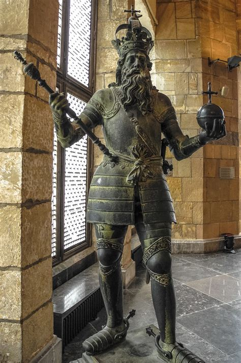 Original bronze statue of Charlemagne from 1620 in the Cor