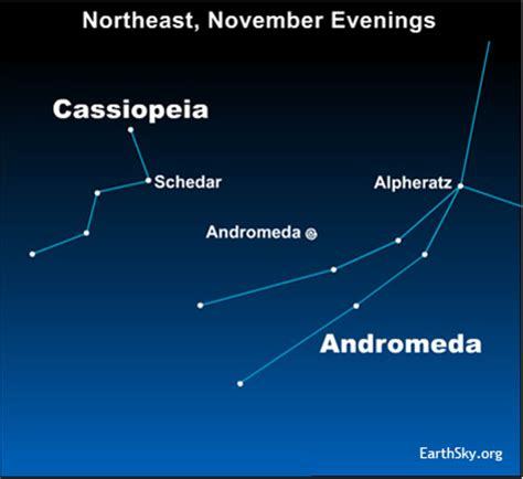 Cassiopeia to Andromeda galaxy | Sky Archive | EarthSky