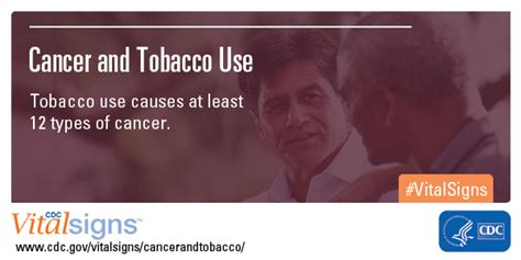 Cancer and Tobacco Use | Vital Signs - CDC