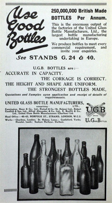 United Glass Bottle Manufacturers - Graces Guide