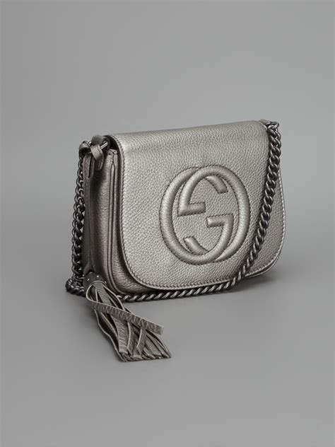 Lyst - Gucci Small Soho Shoulder Bag in Gray