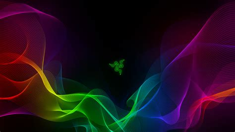 Wallpaper Razer, Abstract, Colorful, Waves, 4K, Technology