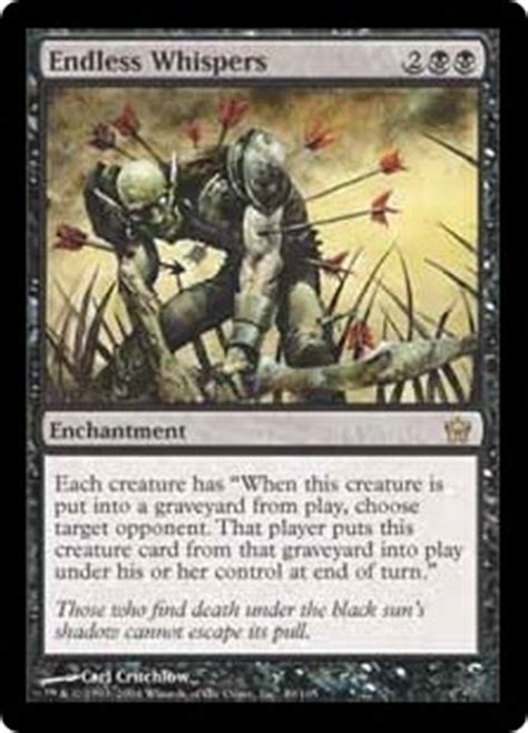 Endless Whispers - Enchantment - Cards - MTG Salvation