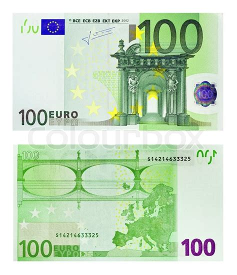 Euro banknote money, european currency on white background