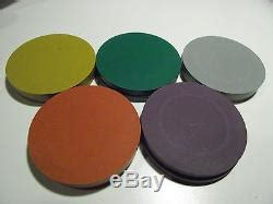 425 piece ASM Blank Mold blank clay poker chips tournament