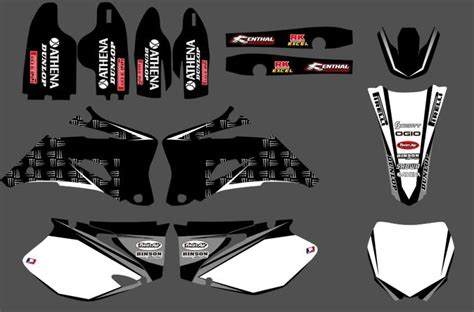 Motorcycle Black & White Team Graphics Decals Stickers For