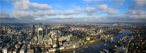 London panoramic view- [2904x1056] | The City of London is