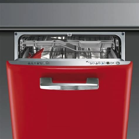 Smeg Di6FABR2 60cm Built in Red Dishwasher