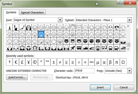 You've got Emoji – Smilie Characters discovered in a font
