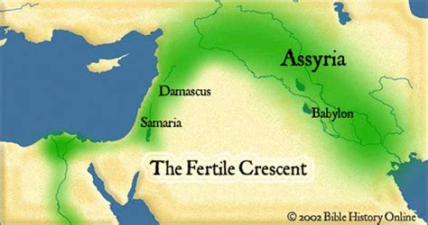 The Destruction of Israel - Map of the Fertile Crescent