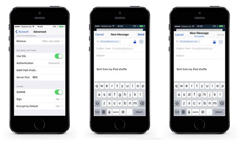 how to set up s/mime on iphone and mac