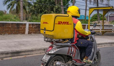 DHL Motorcycle Delivery Thailand