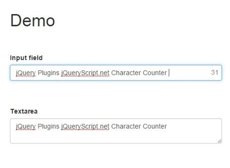 jQuery Plugin To Restrict The Number of Characters In Text