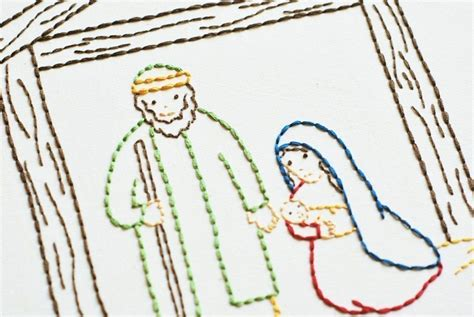The Stable Christmas Nativity PDF Embroidery Pattern