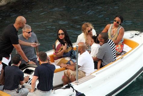 Beyonce and Jay Z on Holiday in Capri with Blue Ivy, Kelly