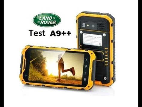 Alps Land Rover A9++ 2Go RAM rugged smartphone IP68 test
