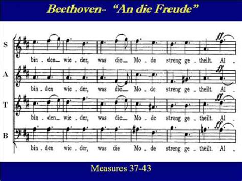 Bass Beethoven An die Freude Ode to Joy Score - YouTube