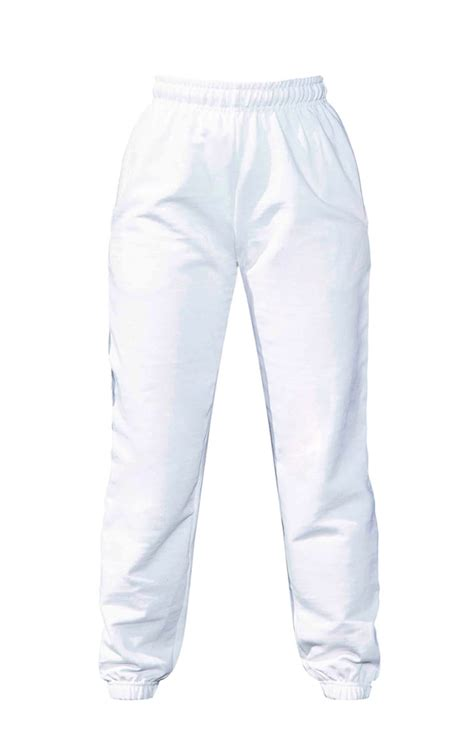 White Casual Track Pants | Pants | PrettyLittleThing AUS