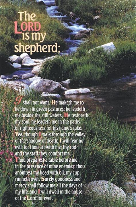 The Lord is My Shepherd: Funeral Bulletin: Quantity per