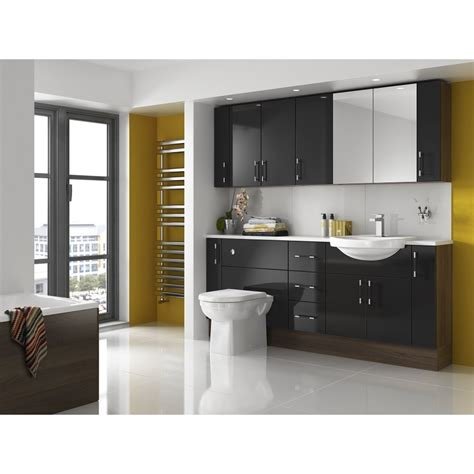 Shades Aspen Fitted Bathroom Furniture in Black - Shades