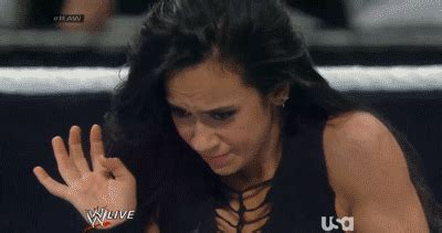AJ Lee Holding in Anger | Gifrific